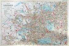 NORTH WEST LONDON, 1910 - Original Antique Map / City Plan, Bacon.