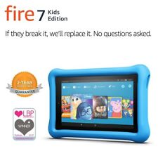 Amazon Kindle Fire HD 7 inch Kids Edition Wi-Fi 16GB 2 Cameras Bundle Blue Case