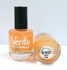 Verity Nail Lacquer Petal Pink F05 Nail Polish .5oz full size