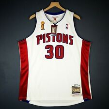 100% Authentic Rasheed Wallace Mitchell Ness 04 Pistons Finals Jersey Size 40 M