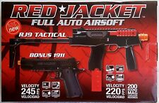 Red Jacket RJ9 Electric Airsoft Rifle with Red Jacket Spring 1911 Pistol Package