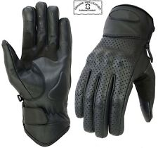 Cruiser CowHide Motorcycle Motorbike Gloves Leather Knuckle shell Protection