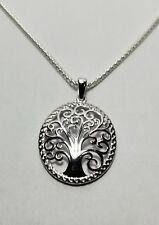 Sterling Silver 925 Whimsic Tree of Life Pendant with chain