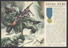CARTOLINA Militare 1942 Medaglie d'Oro FUMI NUOVA (F9)