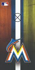 Miami Marlins Custom Cornhole Boards Wrap MLB Decal Custom Vinyl CDA05