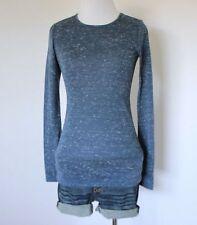 BCBGeneration Juniors Burnout Crewneck Long Sleeve Knit Tee Shirt Blouse Top XS