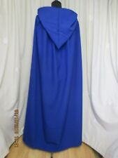 BLUE HOODED CAPE/CLOAK - HALLOWEEN -WICCA - GOTH - HALLOWEEN -MADE IN UK