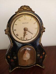 Vintage 1950s German Montfort Musical Dancing Ballerina Alarm Clock