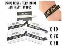 Bride Tribe  / Team Bride - Elastic Wristband / Hair Band - Hen Party Favours