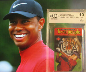 BCCG  10 MINT+ 1997 Cardwon #NNO TIGER WOODS Rookie RC * 15 Majors Masters HOF
