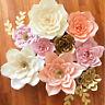 20cm/30cm DIY Paper Flowers Leave Backdrop Decor Kid Birthday Party Wedding