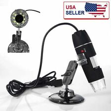 USB 500X Microscope Endoscope Magnifier Digital Video Camera Microscopio 8LED BY