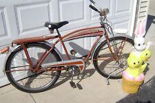 1950'S  MONARK SILVER KING ROCKET BICYCLE- LONG HORN TANK DELTA  LIGHT schwinn