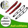 4pcs Car Scratches Door Edge Bumper Protector Anti-collision Guard Strips White
