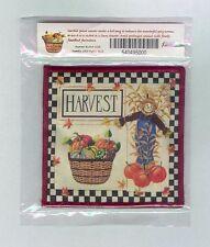 Longaberger Harvest Basket of Pumpkins & Scarecow Scented Coaster Mug Mat
