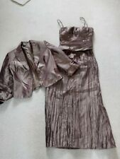 Size 12 John Charles bronze 3 piece long skirt, bodice and jacket, excellent con