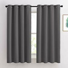 """Bedroom Blackout Curtains Panels - Window Treatment Thermal 52""""W x 63""""L Grey"""