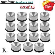 X15 Dental Amalgam Well Pot Set Bone Restorative Instruments Surgical Implant CE