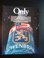 ONLY. - Lowenbrau Beer -  '86 Beer Ad