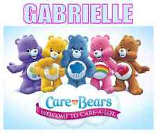 "Care Bears Personalized Custom Iron On Transfer 5""x6"" For LIGHT Fabrics"
