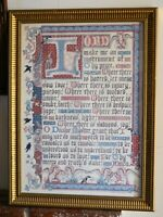 Alison Merry Large Print - Assist Prayer - Signed and Numbered Framed and Glazed