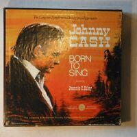 "JOHNNY CASH – BORN TO SING - 5 DISC BOX SET – 12"" 33 RPM LPs -W/JEANNIE C. RILEY"