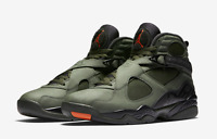2017 Nike Air Jordan 8 VIII Size 13. Take Flight Olive Undefeated . 305381-305