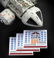 3 X SPACE 1999 EAGLE TRANSPORTER - STICKER DECALS - Sixteen12, MPC & P.E. Eagles