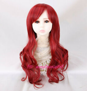 The Little Mermaid Ariel Red Long Curly Cosplay Wig For Kids 3-7 years Child
