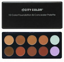 CITY COLOR Cosmetics 10 Color Foundation Concealer Palette-Neutral Natural Shade