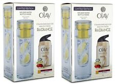 2x Olay Total Effects Normal Day Cream + INFUSER Water Bottle Set 100% Brand New