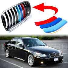 Fits BMW 5 Series E60 E61 04-10 Kidney Grille Grill M Color Cover Stripe Trim