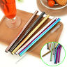 14Pcs Metal Reusable Stainless Steel Straws Straight Bent Drinking Straw Set