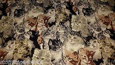 17,00 EUR/Lfm Gobelin Stoff Vintage Stoff Jacquard Stoff Katze