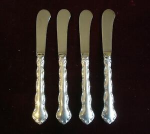 REED & BARTON~Sterling Silver~TARA~Pattern~ Set of 4 ~ Butter Kinves / Spreaders