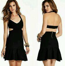 NWT Guess black Mirage Cut out bandage dress size M