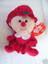 "RED Cuddly Cousins Plush Peluche Christmas 8"" Tall toy"