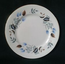COLCLOUGH LINDEN SIDE PLATE BONE CHINA SIDEPLATE BLUE FLOWERS BROWN GREEN LEAVES
