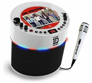 Easy Karaoke One Direction Karaoke Machine With LED Disco Lights Mic