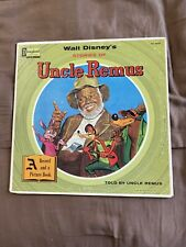New Listing1957 Disney's Stories of Uncle Remus Lp Record Storybook Splash Mountain -Poor