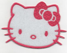 PATCH RICAMO TOPPA HELLO KITTY FIOCCO SI APPLICA CON FERRO DA STIRO