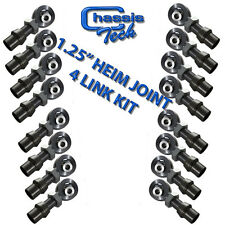 "1 1/4"" 4Link Complete Kit With High Misalignment Spacers 1.25"" Heim Joint 80PCS"
