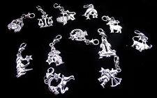 Zodiac / Horoscope Clip On Charms - Taurus, Aries, Capricorn, Libra