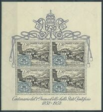 1952 VATICANO FOGLIETTO CENTENARIO FRANCOBOLLI STATO PONTIFICIO MNH ** - ED2