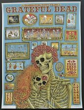 Grateful Dead & Company Emek poster Chicago Fare Thee Well VIP Screenprint GD50