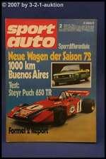 Sport Auto 2/72 Steyr Puch TR 650 Irmscher Manta + Poster