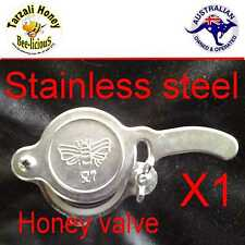 HONEY GATE VALVE, STAINLESS STEEL  TAP EASY FIT  BEE KEEPING  APIARY BEEKEEPING