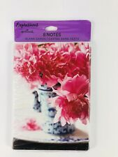 Expressions Hallmark Greeting Cards Teapot Flowers Floral 8 Count Blank Inside