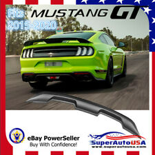 Fits Ford Mustang Coupe 2015-2020 GT500 Style Meet Black Trunk Spoiler Wing