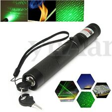 G303 Puntero Verde Luz Beam Láser Pointer 0.5mW 532nm Enfoque Ajustable + Gorra